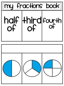 Fractions Book (Fractions Activities for Half of, Third Of, Fourth Of)