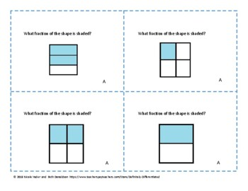 Fractions - Differentiated Task Cards