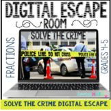 Fractions Digital Escape Room DISTANCE LEARNING