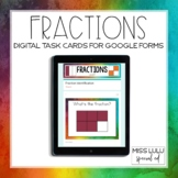 Fractions Digital Task Cards for Distance Learning w/ Goog