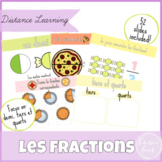 Fractions Distance Learning FRENCH Google Slides   Les Fractions
