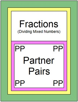 Fractions - Dividing Mixed Numbers (Partner Pairs)