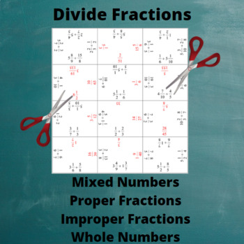 Divide Fractions : Division Puzzle with All Positive Answers