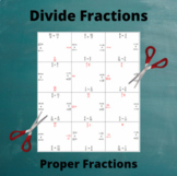 Fractions Division Puzzle : Divide Two Fractions