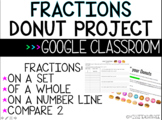 Fractions Donut Project - GOOGLE CLASSROOM, Distance Learning