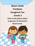 Fractions-Doughnut Fun for Grade 3-Boom Cards