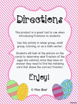 Fractions Easter Egg Matching Activity