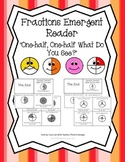 "Fractions Emergent Reader ""One-half, One-half What Do You See?"" Set of 2"