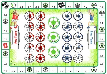 Fractions Decimals & Percentages English Football Themed Games