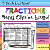 3rd Grade Fractions Choice Board – Enrichment Math Menu –