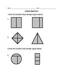 Fractions: Equal Parts Worksheet