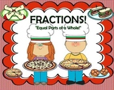 "Fractions:  ""Equal Parts of a Whole"" SmartBoard Unit of Study"