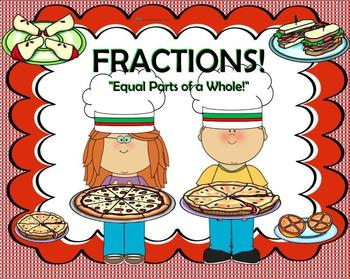 """Fractions:  """"Equal Parts of a Whole"""" SmartBoard Unit of Study"""