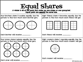 Fractions: Equal Shares