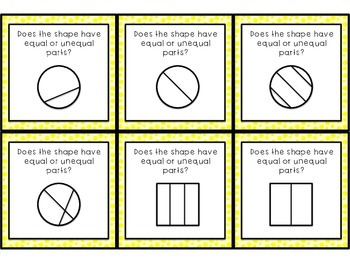 Fractions Equal or Unequal Parts Game