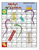 Fractions - Equivalent Fractions - Board Game - Snakes and
