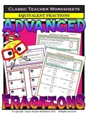 Fractions - Equivalent Fractions & Fraction Circles - Grades 5-6 (5th-6th Grade)