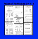 Fractions (Equivalent, Improper, Mixed) Printable Worksheets For Gr 4-5