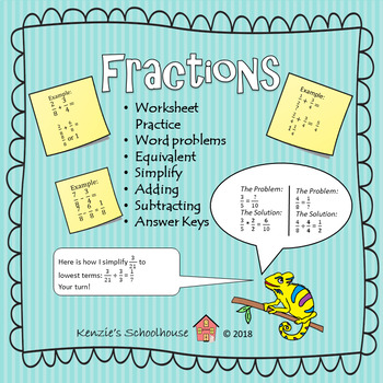 Fractions: Equivalent, Symplify, Adding, and Subtracting