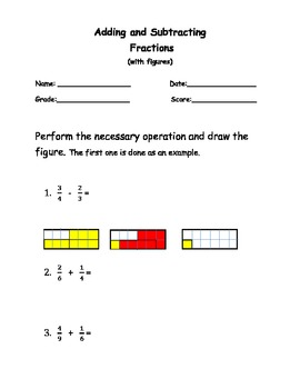 Fractions - Equivalent to Adding and Subtracting.