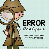 Fractions: Error Analysis (Critical Thinking Task Cards fo