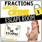 Fractions Escape Room - 3rd Grade Fractions Game