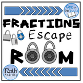Fractions Escape Room - Multiplying and Dividing Fractions Escape Challenge