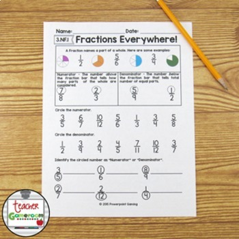 Fraction Mini Set - Introduction to Fractions Worksheet