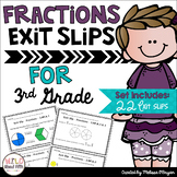 Fractions Exit Ticket Slips 3rd Grade