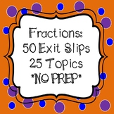 Fractions - Exit Slips