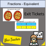 Fractions Exit Tickets (12) 3rd grade