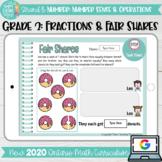 Fractions & Fair Shares grade 2 2020 Ontario Math DIGITAL Google Slides