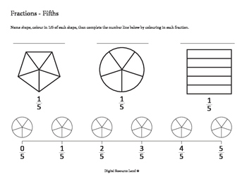 Fractions - Fifths