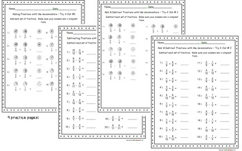 Fractions Task Cards Bundle - Add, Subtract, Multiply, & Divide Fractions