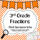Fractions Find Someone Who Activity