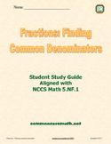 Fractions: Finding Common Denominators - 5.NF.1