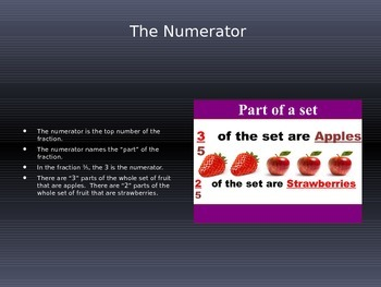 Fractions-Finding Parts of a Set or Parts of a Whole