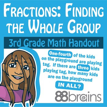 Fractions - Finding the Whole Group pgs. 58-60 (Common Core)