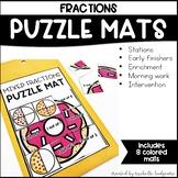 Fractions First Grade, Second Grade Math | Puzzle Mats