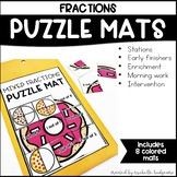 Fractions First Grade, Second Grade Math | Puzzle Mats
