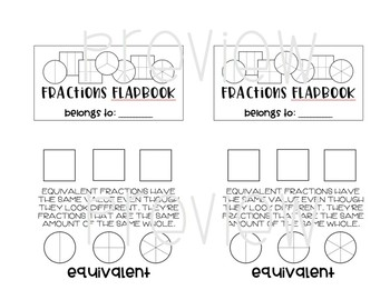 Fractions Flapbook