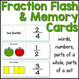 Fractions Flash Cards & Memory Game