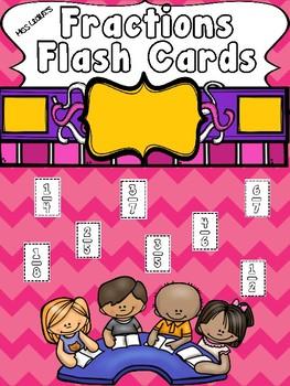 Fractions Flashcards FREEBIE!