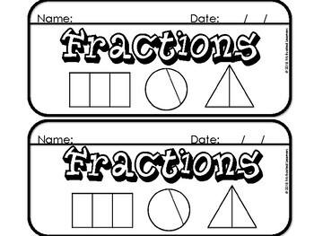 Fraction Flip Book (equal, whole, halves, thirds, fourths)