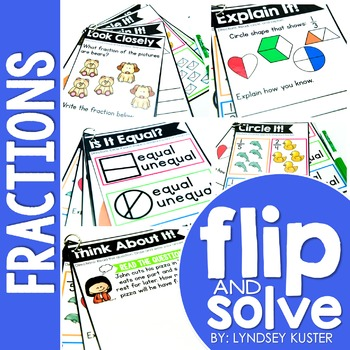 Fractions - Flip and Solve Books