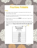 Fractions Foldable- Wholes and Sets