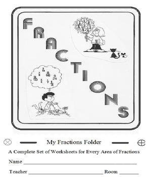 Fractions Folder 55 Worksheets w ICAN Checklist