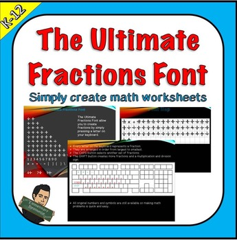 EE Math Fractions Font Keyboard License Included