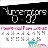 Fractions Font Commercial License - Bubbles Fonts