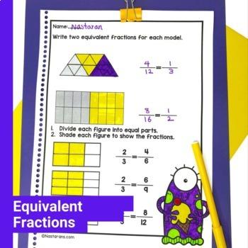 3rd Grade Fractions Worksheets